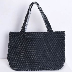 ISABELLA Reversible Woven Vegan Leather Tote NWT